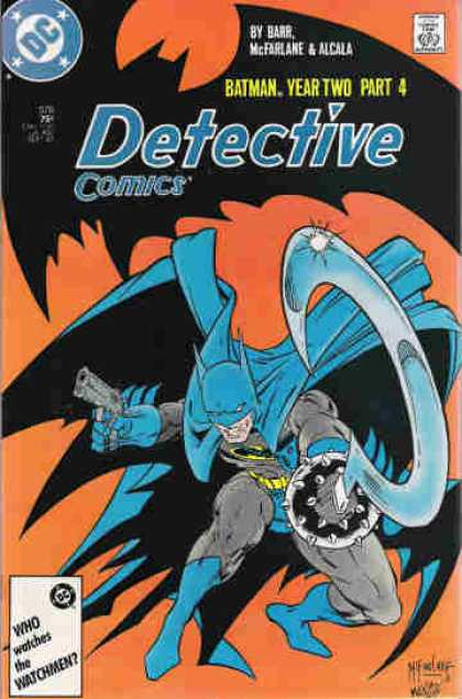 Detective Comics 578 - Batman - Gun - Barr - Approved By The Comics Code - Who Waches The Watchmen - Todd McFarlane