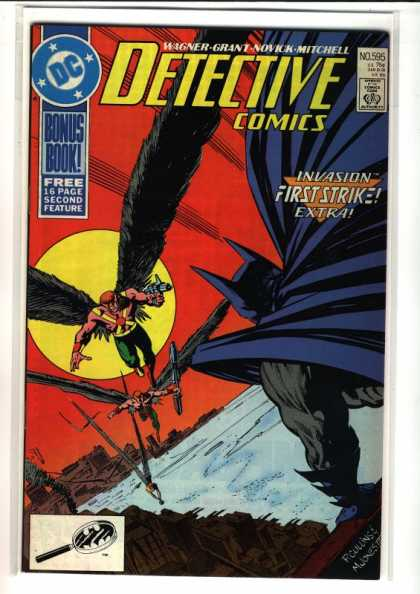 Detective Comics 595 - Batman - Dc - Comics Code - Invasion First Strike Extra - Bonus Book