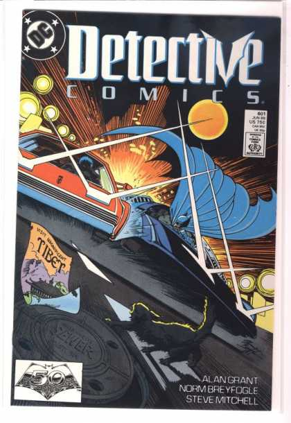 Detective Comics 601 - Batman - Batmobile - Dc Comics - Car Chase - Crash - Norm Breyfogle