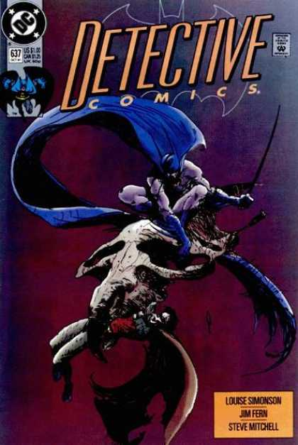 Detective Comics 637 - Batman - Jim Fern - Steve Mitchell - Louise Simonson - Fight