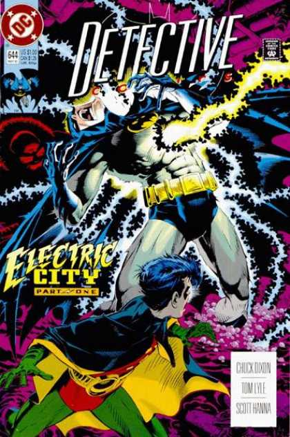 Detective Comics 644 - Batman - Robin - Lightning - Electricity - Michael Golden