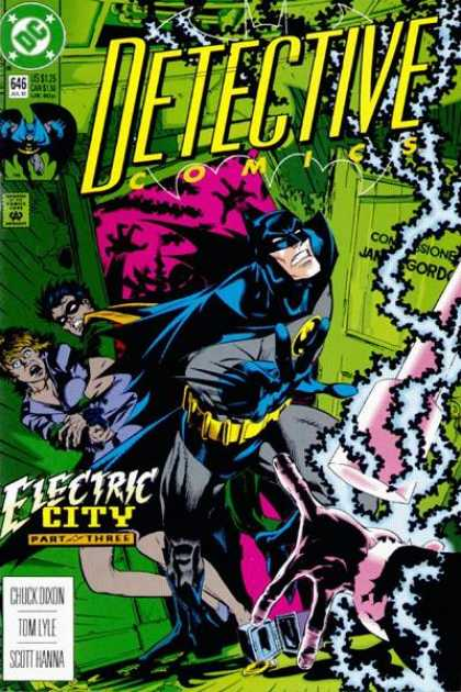Detective Comics 646 - Batman - Robin - Electricity - Electric City - Michael Golden