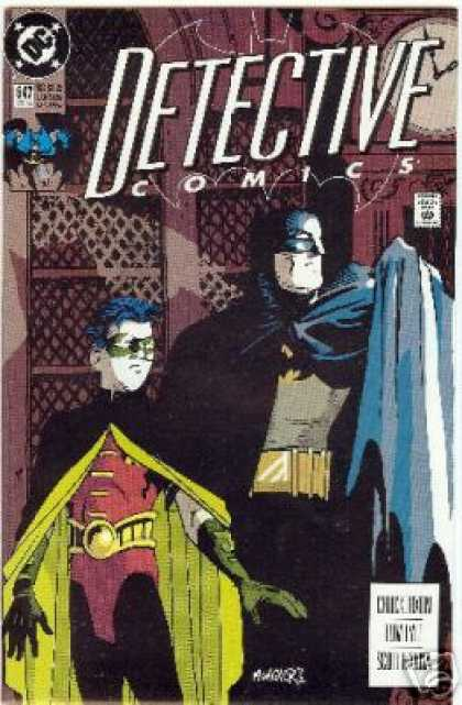 Detective Comics 647 - Batman - Robin - Awning - Spotlight - Stealth - Matt Wagner