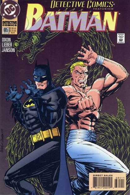 Detective Comics 685 - Dragon - Batman - Muscular Heroes - Masked - Fighting Stance - Klaus Janson