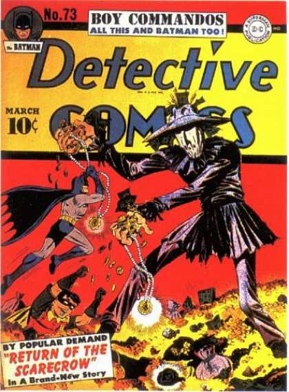 Detective Comics 73 - Batman - Robin - Return Of The Scarecrow - Gold - Jewelry