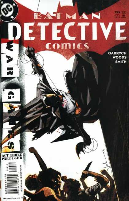 Detective Comics 799 - Batman - War Games - Batarang - Swinging - Mob - Mark Simpson
