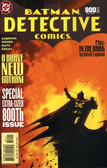 Detective Comics 800 - Batman Detective Comics - In The Dark - David Lapham - Cabrych Woods - Smith Ceraci - Mark Simpson