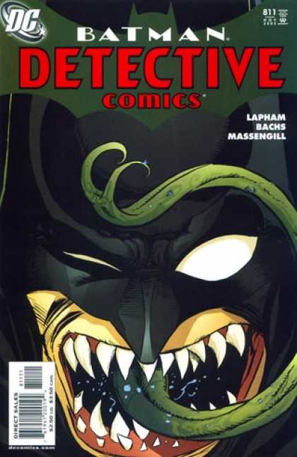 Detective Comics 811 - Batman - Green Forked Toungue - Sharp Teeth - Lapham - Bachs - David Lapham