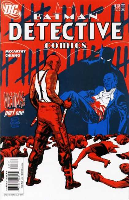 Detective Comics 815 - Batman - Knife - Blood - Bodies - Red