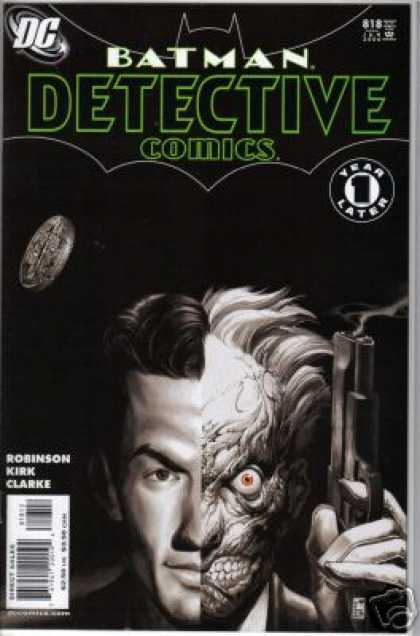 Detective Comics 818 - Coin - Two-face - Two Face - Gun - Batman - Simone Bianchi