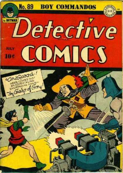 Detective Comics 89 - Boy Commandos - On Guard - The Calvalier Of Crime - Huge Magnet - Musketeer Outfit