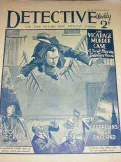 Detective Weekly 105 - Vicarage Murder Case - England - Secret - Falling Down - Court Area