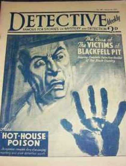 Detective Weekly 107 - Mystery - Detection - The Victims - Blackfell Pit - Hot-house Poison