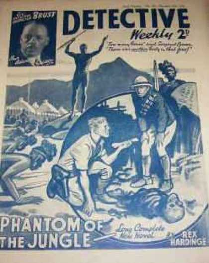 Detective Weekly 195 - Phantom Of The Jungle - Skeleton - Rex Hardinge - Tribe - Village