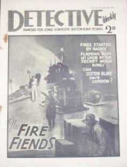 Detective Weekly 89 - Fire Fiends - Black - White - Blurry - Can Sexton Blake Save London