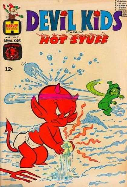 Devil Kids 11 - Hot Stuff - Horns - Snow - Green Witch - Pointed Tail