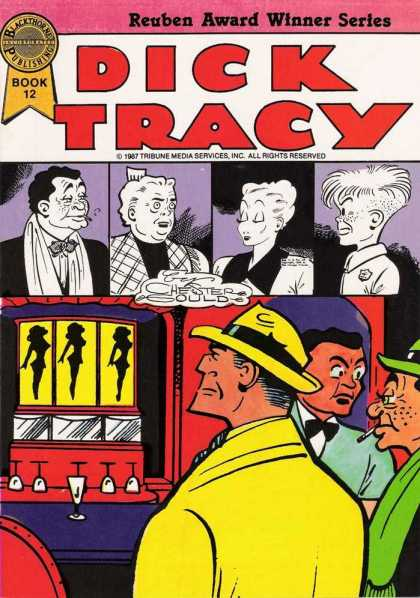 Dick Tracy (Blackthorne) 12 - Reuben Award - Book 12 - Chester Gould - Black And White - Cigarette