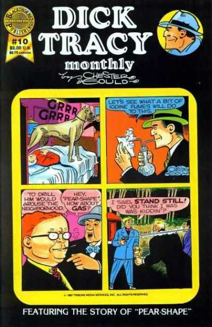 Dick Tracy Monthly 10 - Dog - Man - Detective - Hat - Gun