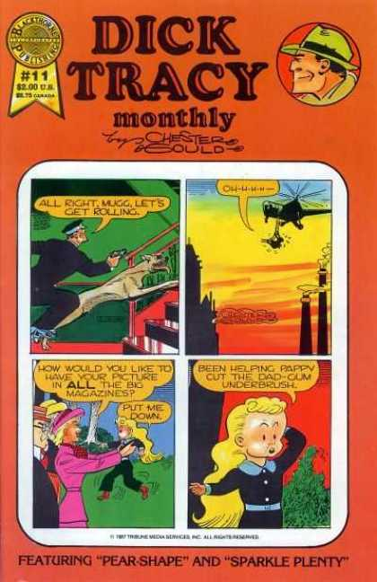 Dick Tracy Monthly 11 - Cap - Elicopter - Gun - Dog