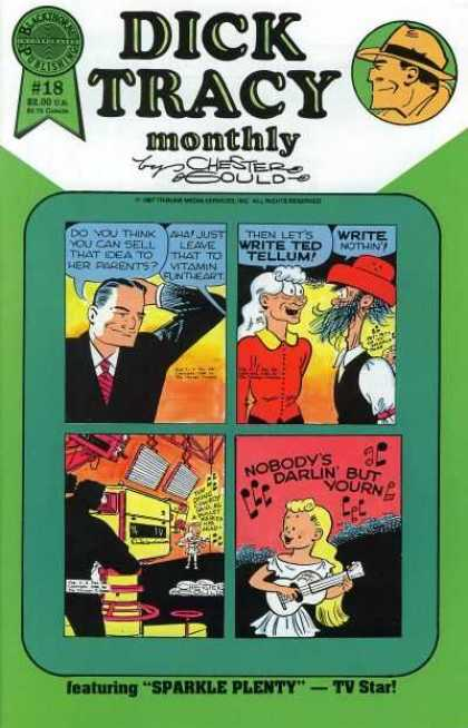 Dick Tracy Monthly 18 - Mystery - Guitar - Detective - Singing - Girl