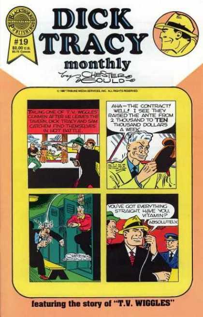 Dick Tracy Monthly 19 - Detective - Classic - Full Of Text - Bright - Detailed Drawing
