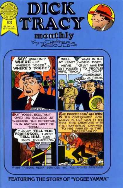Dick Tracy Monthly 3 - Mob - Gang - Clueless - The Change - Lost
