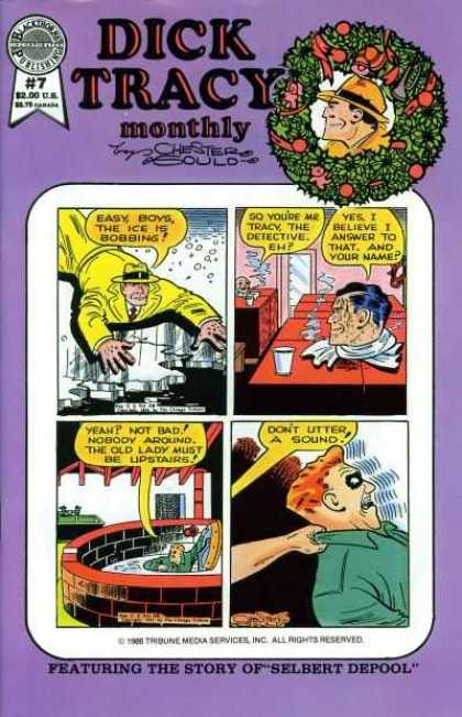 Dick Tracy Monthly 7 - Yellow Suit - Ice - Man In A Steam Box - Red Hair - Green Shirt