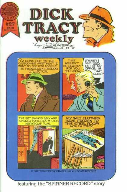 Dick Tracy Weekly 27 - Phonograph Record Collection - Spinner - Man In Crate - Frozen To Roof - Cable