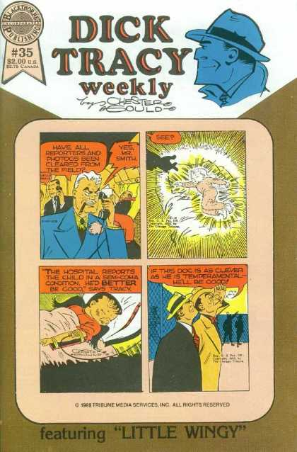 Dick Tracy Weekly 35 - Chester Gould - Comic Strip - Speech Bubbles - Phone - Cigar