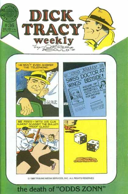 Dick Tracy Weekly 36 - Odds Zonn - Yellow Hat - Detective - Dice - Snake Eyes