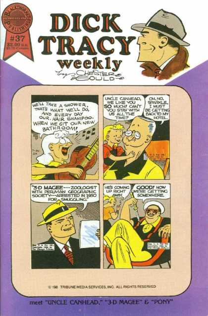 Dick Tracy Weekly 37 - Chester Gould - Uncle Canhead - 3-d Magee - Pony - Sparkle