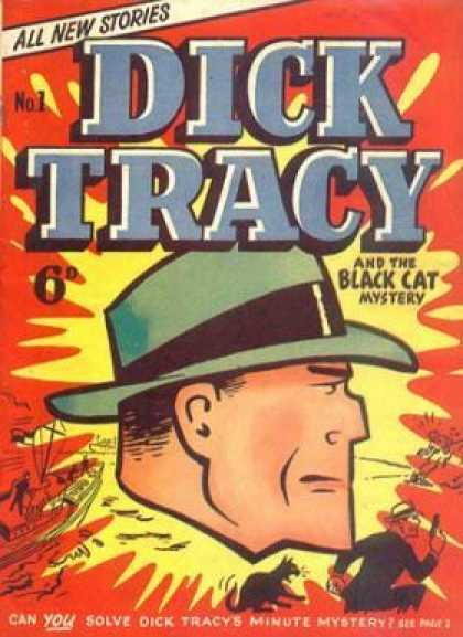 Dick Tracy 1 - All New Stories - Black Cat Mystery - Face - Detective - Hat - Kyle Baker