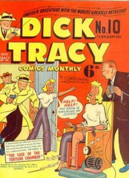 Dick Tracy 10 - Gun - Person - Girl - Numbers - Electric Shock