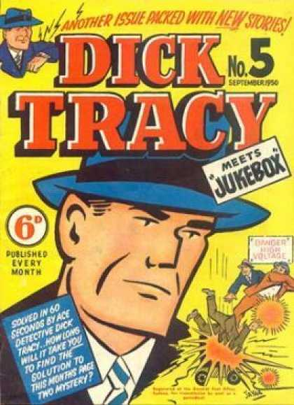 Dick Tracy 5 - Man - Hat - Watch - Detective - Voltage