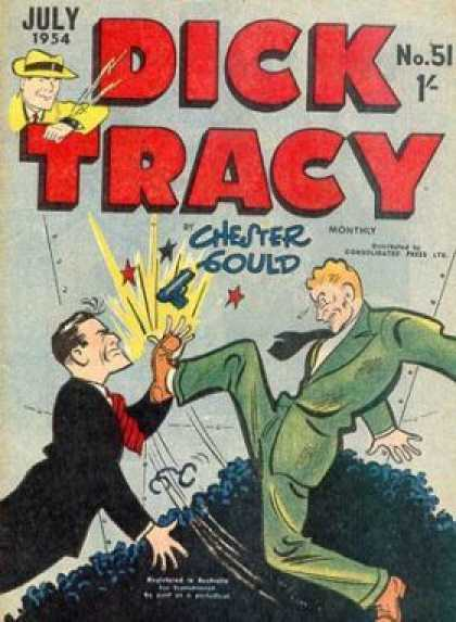 Dick Tracy 51 - Chester Could - Fighting - Gun - Three Stars - Hitting