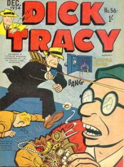 Dick Tracy 56 - Safe - Jewels - Detective - Gun - Robber