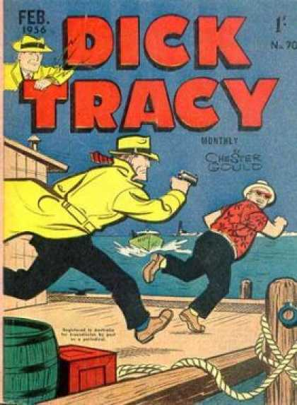 Dick Tracy 70 - On The Chase - Going To The Edge - Jumping Away - Running Off - Escape Route