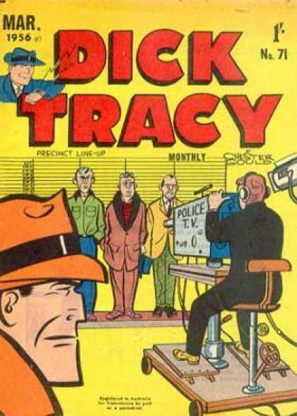 Dick Tracy 71 - Classic Comics - The Original Detective - Gangsters - Cops And Robbers - The Line-up