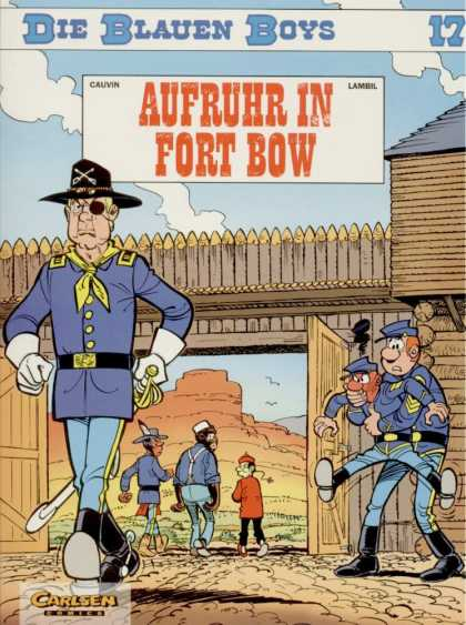Die Blauen Boys 12 - Aufruhr In Fort Bow - Indian - Desert - Clavery - Wooden Fot