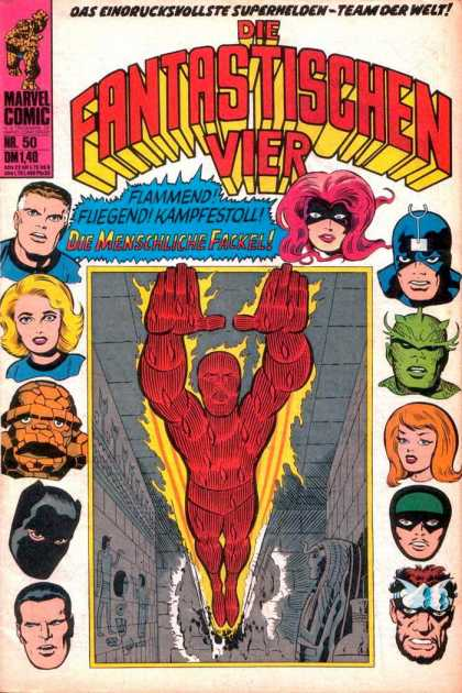 Die Fantastischen Vier 50 - Marvel Comic - The Thing - Human-torch - Invisible Woman - Mister Fantastic