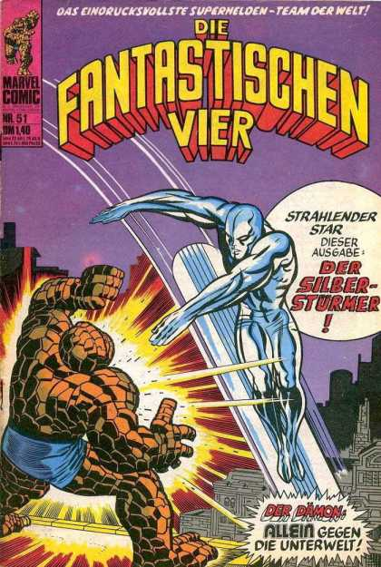 Die Fantastischen Vier 51 - Ice Man - Rubble Man - Fire - Fight - Buildings