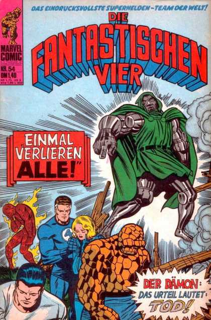 Die Fantastischen Vier 54 - Fantastic Four - Mr Fantastic - The Invisible Woman - The Thing - The Human Torch