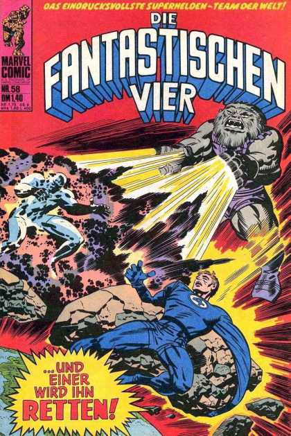 Die Fantastischen Vier 58 - Marvel Comic - Fantastic Four - Cloud Of Smoke - Laser Hands - Fury Monster