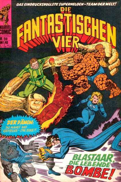 Die Fantastischen Vier 59 - German - Blastaar - Bombe - Marvel - Fighting