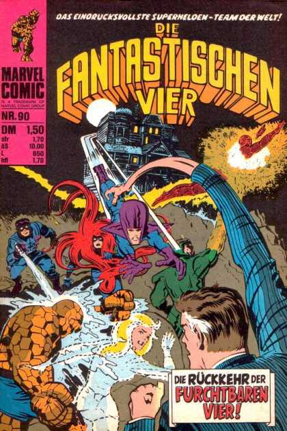 Die Fantastischen Vier 90 - Human Torch - Thing - Mr Fantastic - Invisible Woman - Stretched Arm