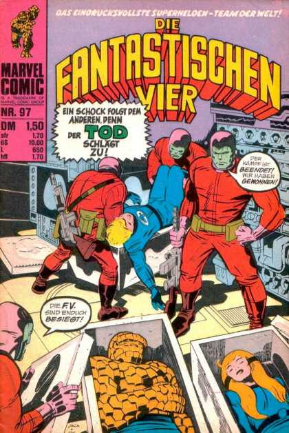 Die Fantastischen Vier 97 - Marvel - Blonde - Foreign Language - Fantastic Four - Speech Bubbles