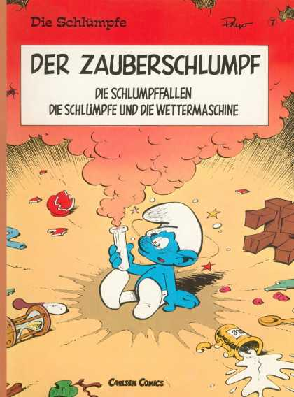 Die Schluempfe 7 - Smurf - Test Tube - Smoke - Hourglass - Spoon