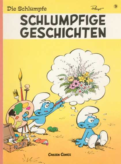 Die Schluempfe 9 - Smurfs - Flowers - Comics - Brushes - Paints