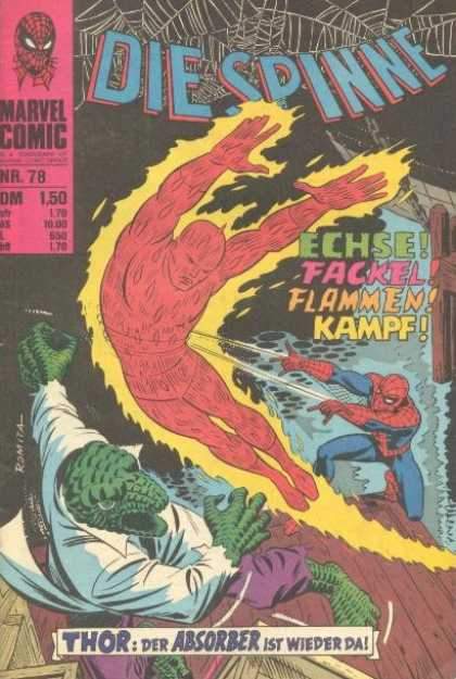 Die Spinne 101 - Marvel - Number 78 - Flames - Web - Lizard