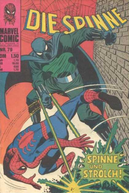 Die Spinne 102 - Marvel Comic - Green Ray - Blue Green Cape - Spiderman - Spider Web